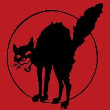ça booste sous les pavés dans ҪA BOOSTE SOUS LES PAVÉS chat-noir-fond-rouge1