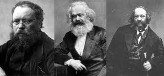 Proudhon, Marx, Bakounine
